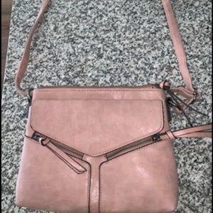Pink cross-body purse